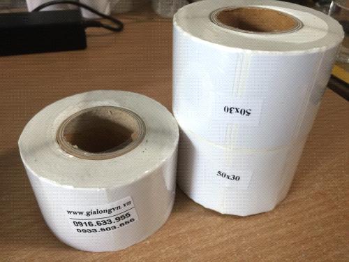 Giấy in tem trà sữa (Tem Nhiệt 50×30 | Tem dán ly trà sữa)