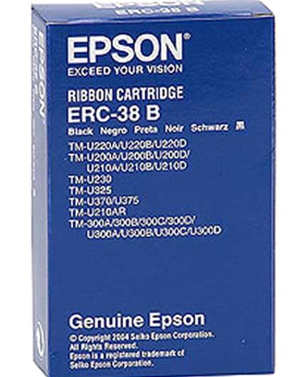 Băng mực cho máy in hóa đơn siêu thị EPSON TM220PB, PD, PA(đen)