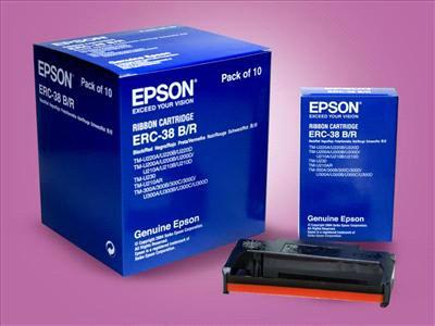 Băng mực dùng cho máy in hóa đơn siêu thị EPSON TM220PB, PD, PA(( 2 màu: đen, đỏ)